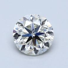 ターゲットの石:1.00カラットのラウンドカットダイヤモンド