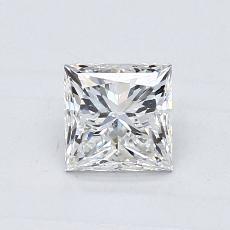0.70-Carat Princess Diamond Good G SI1