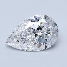 1.01 Carat 梨形 Diamond 非常好 D VVS2