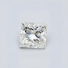 Piedra recomendada 3: Diamante de talla princesa de 0,37quilates