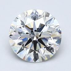 Pierre recommandée n°1: Diamant taille ronde 1,90 carat