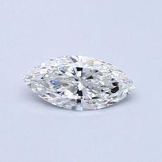 Pierre recommandée n°1: Diamant taille princesse 0,32 carat