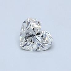 ターゲットの石:0.52カラットのハートカットダイヤモンド