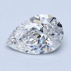 1.20 Carat 梨形 Diamond 非常好 E VVS1