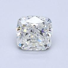 1.05-Carat Cushion Diamond Very Good G VVS1
