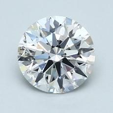 1.53 Carat 圆形 Diamond 理想 D SI1