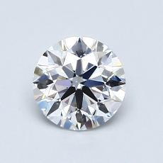 0,80-Carat Round Diamond Ideal D VS1