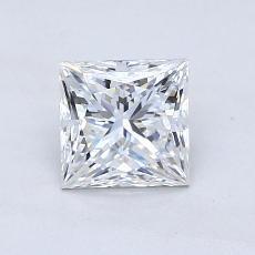 推荐宝石 3:1.05 克拉公主方形钻石