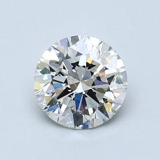 1.00-Carat Round Diamond Ideal I SI2