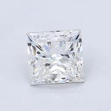 1,00-Carat Princess Diamond Very Good G VVS2