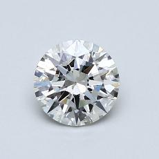 0.70-Carat Round Diamond Ideal I SI2