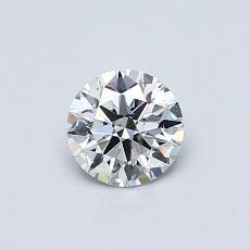 0.50-Carat Round Diamond Ideal D SI2