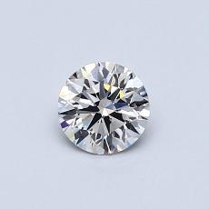 0.41 Carat 圆形 Diamond 理想 H VVS2