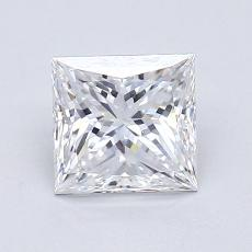 1.23 Carat 公主方形 Diamond 非常好 D VS2