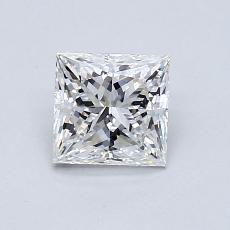 0,92-Carat Princess Diamond Very Good E VS2