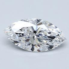 1,21-Carat Marquise Diamond Very Good D IF