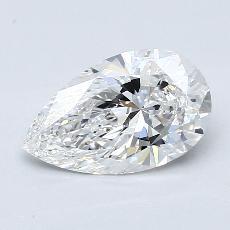 Piedra recomendada 4: Diamante en forma de pera de1.51 quilates