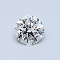 0.57-Carat Round Diamond Ideal H VVS2