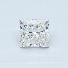 0.50-Carat Princess Diamond Very Good G SI1