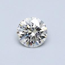 0.50-Carat Round Diamond Ideal I SI2