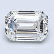 3,00-Carat Emerald Diamond Very Good E VVS1