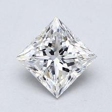 1.01-Carat Princess Diamond Very Good E IF