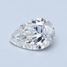 推荐宝石 1:0.76 克拉梨形切割钻石