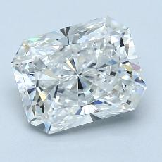 3,01-Carat Radiant Diamond Very Good F VS2