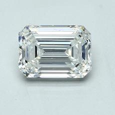 1.02-Carat Emerald Diamond Very Good H VVS2