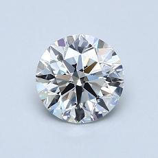 0.80 Carat 圓形 Diamond 理想 E VVS2
