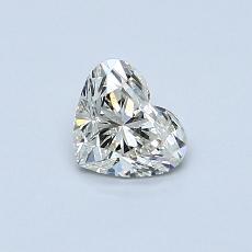 オススメの石No.1:0.50カラットのハートカットダイヤモンド