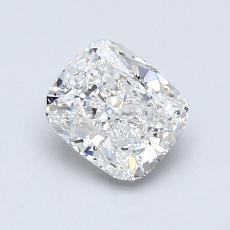 0.91-Carat Cushion Diamond Very Good F VVS2