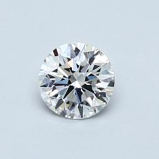 0.52-Carat Round Diamond Ideal E FL