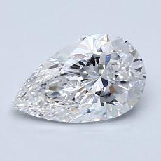 Piedra objetivo: Diamante en forma de pera de1.20 quilates