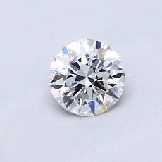 0,51 Carat Rond Diamond Idéale D IF