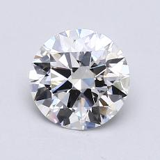 1.10-Carat Round Diamond Ideal F VVS2