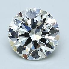 2.00-Carat Round Diamond Ideal J VVS2