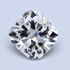 1.51-Carat Cushion Diamond Very Good H VVS2