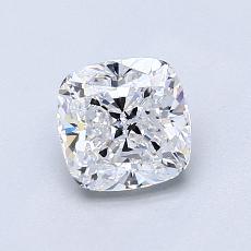 目标宝石:1.03 克拉垫形钻石