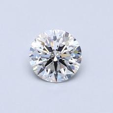 0.50 Carat 圆形 Diamond 理想 D VS1