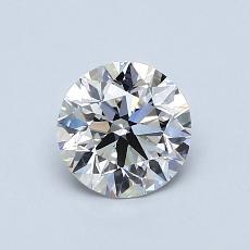 0.80-Carat Round Diamond Ideal F VS1