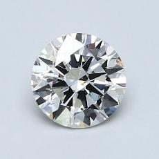 1,02-Carat Round Diamond Ideal J SI1