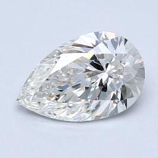 1.01-Carat Pear Diamond Very Good G VVS1