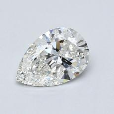 0,61-Carat Pear Diamond Very Good G SI1