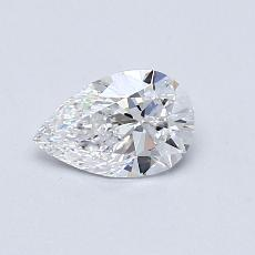 0.51-Carat Pear Diamond Very Good D IF