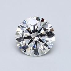 Target Stone: 0,77-Carat Round Cut Diamond