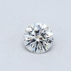 0.30-Carat Round Diamond Ideal E IF