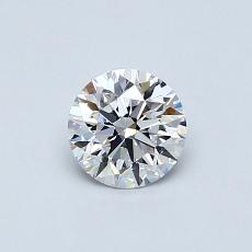0.51-Carat Round Diamond Ideal D FL