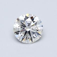 0.71-Carat Round Diamond Ideal F VS1