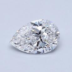 0.71-Carat Pear Diamond Very Good D VVS2